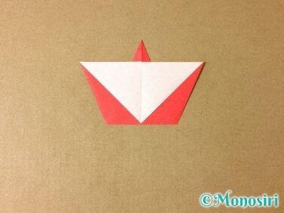 折り紙で簡単なサンタクロースの折り方6