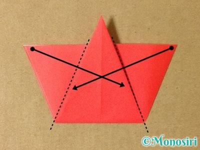 折り紙で簡単なサンタクロースの折り方7