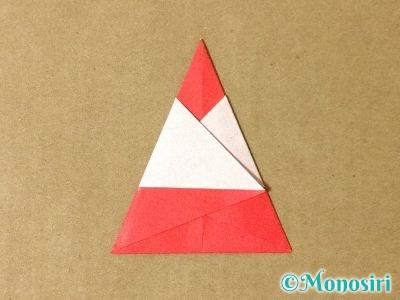 折り紙で簡単なサンタクロースの折り方8