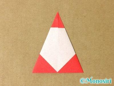 折り紙で簡単なサンタクロースの折り方9