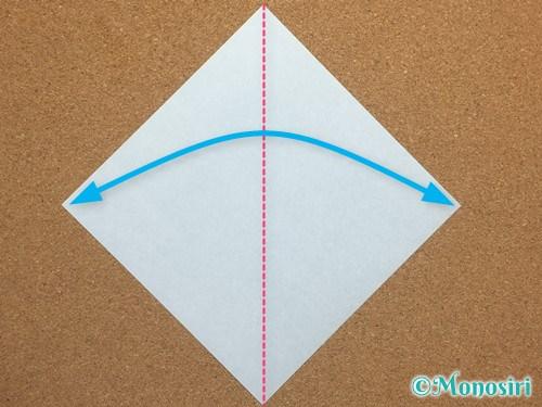 折り紙で簡単なクリスマスツリーの折り方1