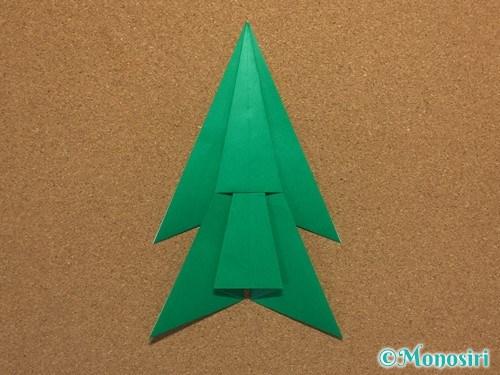 折り紙で簡単なクリスマスツリーの折り方12