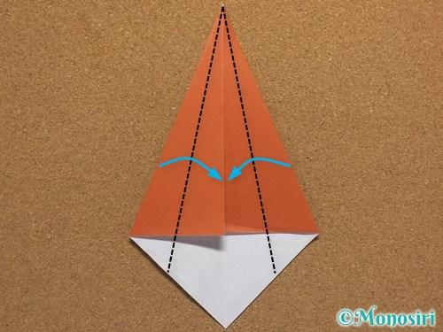 折り紙で簡単なクリスマスツリーの折り方17