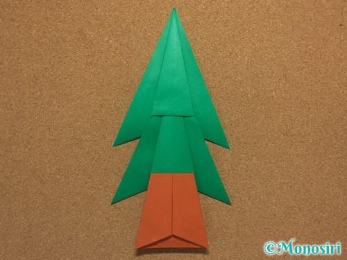 折り紙で簡単なクリスマスツリーの折り方21