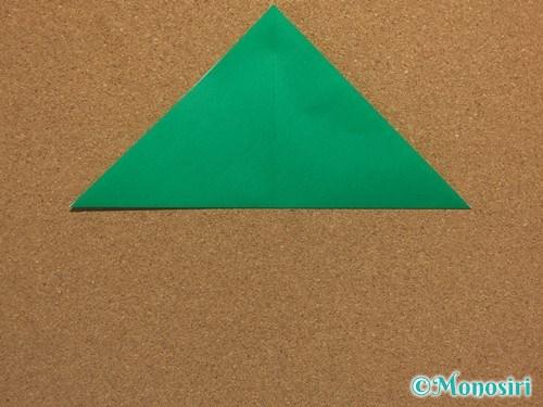 折り紙で簡単なクリスマスツリーの折り方3