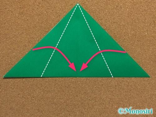 折り紙で簡単なクリスマスツリーの折り方4