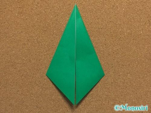 折り紙で簡単なクリスマスツリーの折り方5