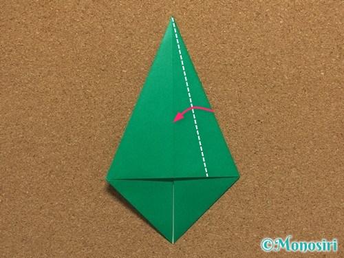 折り紙で簡単なクリスマスツリーの折り方6