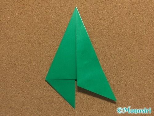 折り紙で簡単なクリスマスツリーの折り方7