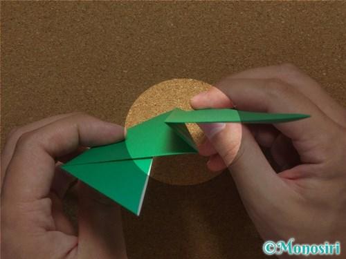 折り紙で簡単なクリスマスツリーの折り方8