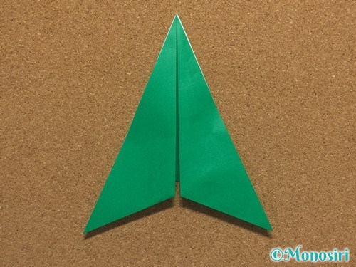 折り紙で簡単なクリスマスツリーの折り方9