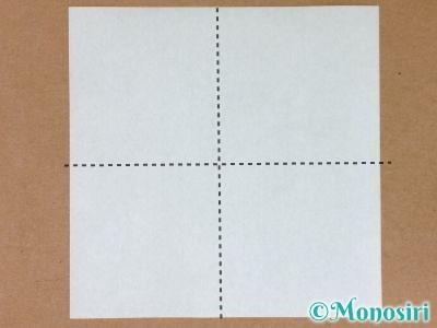 折り紙でプレゼントボックスの折り方1