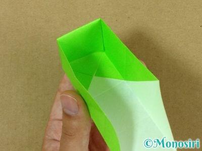 折り紙でプレゼントボックスの折り方13
