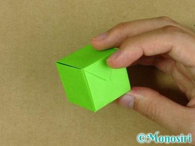 折り紙でプレゼントボックスの折り方15