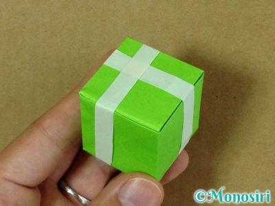 折り紙でプレゼントボックスの折り方17