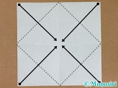折り紙でプレゼントボックスの折り方2