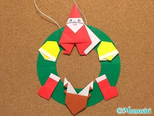 折り紙でクリスマスリースの作り方10
