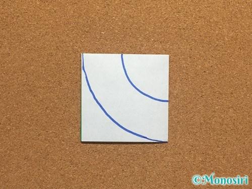 折り紙でクリスマスリースの作り方5