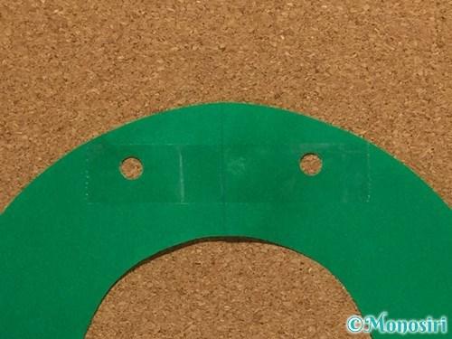 折り紙でクリスマスリースの作り方8