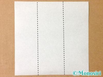 折り紙でサンタクロースの折り方1