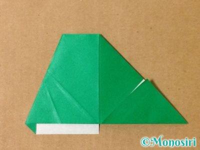 折り紙でサンタクロースの折り方11