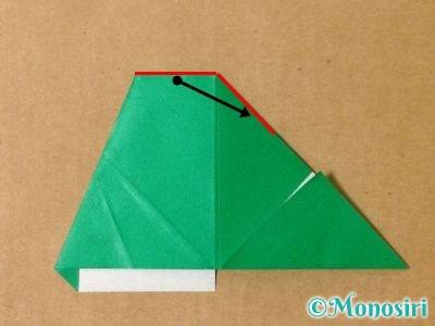 折り紙でサンタクロースの折り方12