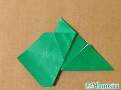 折り紙でサンタクロースの折り方13