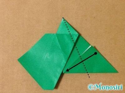 折り紙でサンタクロースの折り方14