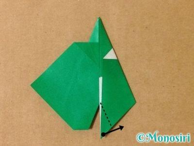 折り紙でサンタクロースの折り方15