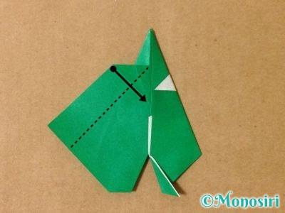 折り紙でサンタクロースの折り方16