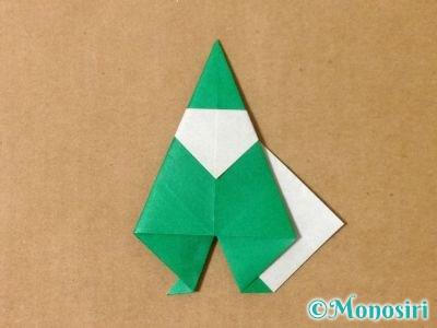 折り紙でサンタクロースの折り方18