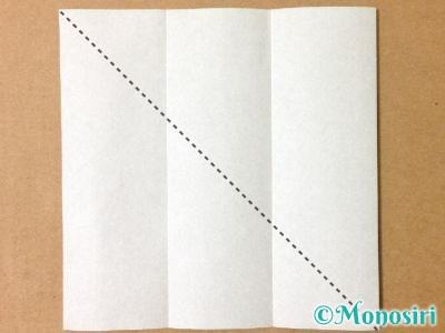 折り紙でサンタクロースの折り方2