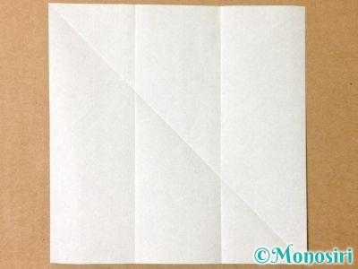折り紙でサンタクロースの折り方3