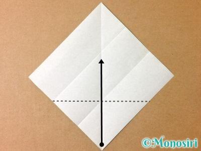 折り紙でサンタクロースの折り方4