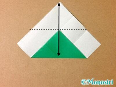 折り紙でサンタクロースの折り方5