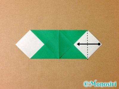 折り紙でサンタクロースの折り方6