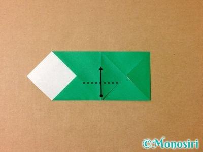 折り紙でサンタクロースの折り方7