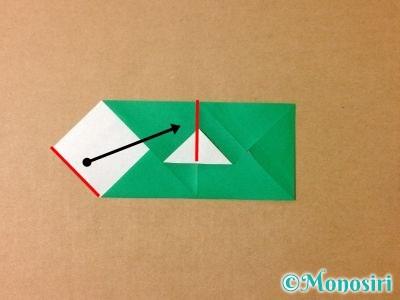 折り紙でサンタクロースの折り方8
