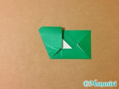 折り紙でサンタクロースの折り方9