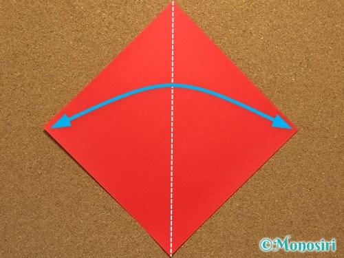 折り紙でサンタ帽子の折り方1