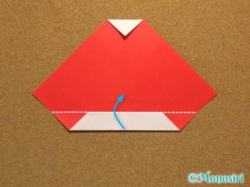 折り紙でサンタ帽子の折り方10