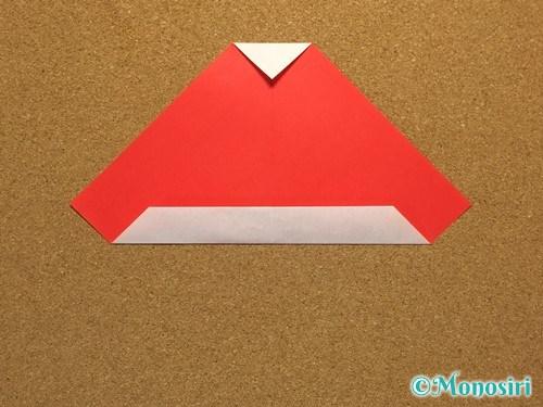 折り紙でサンタ帽子の折り方11