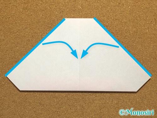 折り紙でサンタ帽子の折り方12