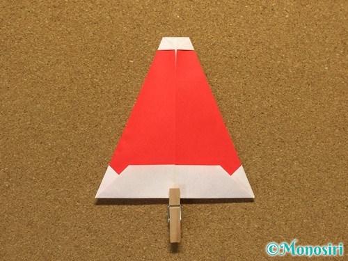 折り紙でサンタ帽子の折り方15