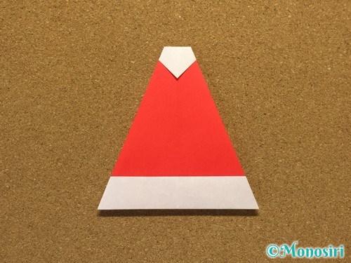 折り紙でサンタ帽子の折り方16