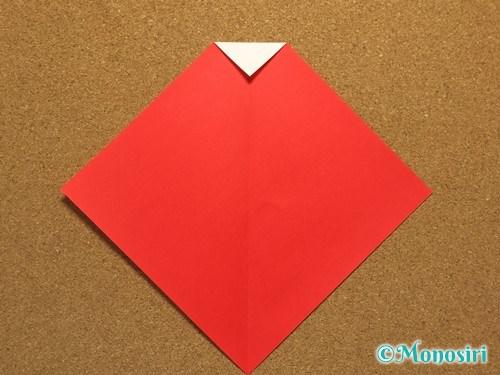 折り紙でサンタ帽子の折り方3