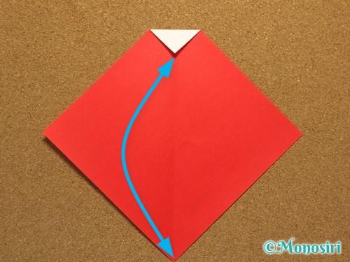 折り紙でサンタ帽子の折り方4