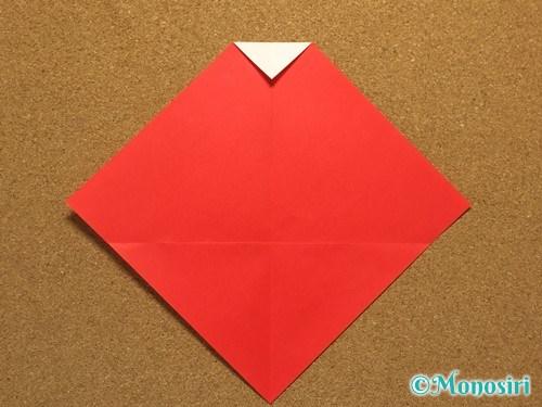 折り紙でサンタ帽子の折り方5