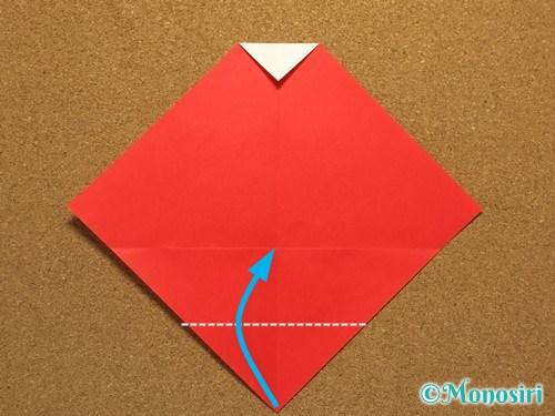折り紙でサンタ帽子の折り方6