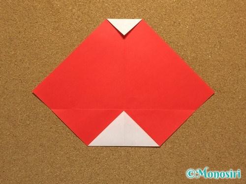 折り紙でサンタ帽子の折り方7